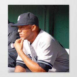 Mariano Rivera in the Fenway Park bullpen Canvas Print