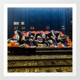 Legal Graffiti Art Print