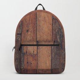 wood pattern Backpack