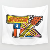 austin Wall Tapestries featuring Austin TX by Brandon Ortwein