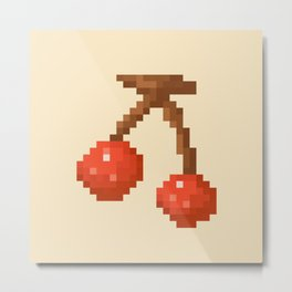 Cherry Pixel Art | Animal Villager Metal Print