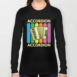 Accordion Melodeon Piano Accordion Retro Gift Idea Long Sleeve T-shirt