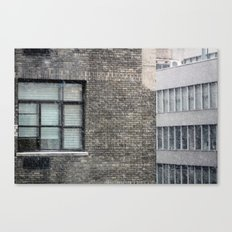 Snowing in New York City Canvas Print