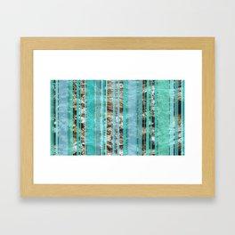 Blue & Wood Framed Art Print