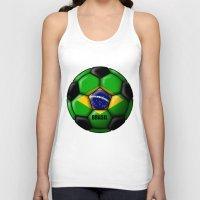brasil Tank Tops featuring Brasil Ball by kuuma