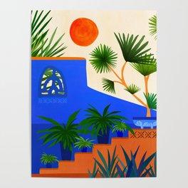 Southwest Summer Garden / Desert Landscape Poster