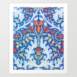 William Morris - Autumn Flowers - Digital Remastered Edition Art Print