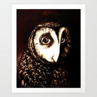 The She-Owl Art Print