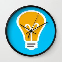 Let Your Light(bulb) Shine Wall Clock