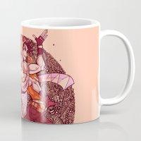jjba Mugs featuring pattern bubble by vvisti