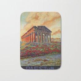 Paestum ancient Greek temple Bath Mat
