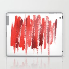 Red Strokes Laptop & iPad Skin