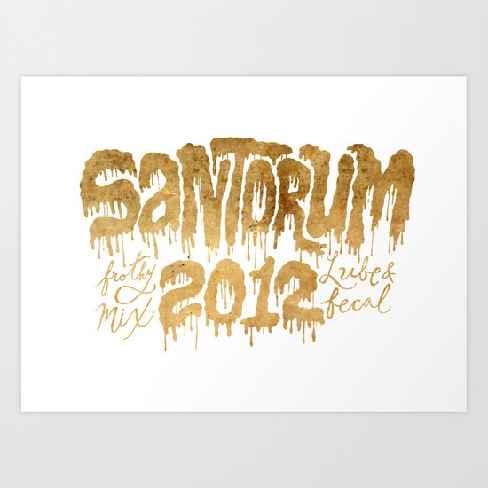 Santorum Art Print