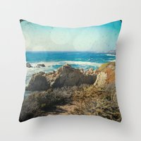 big sur Throw Pillows featuring Big Sur - Bonafide by Jenndalyn
