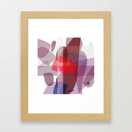 Drifting conglomerate of purple Framed Art Print