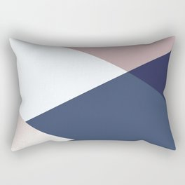 Geometrics - blush indigo rose gold Rectangular Pillow