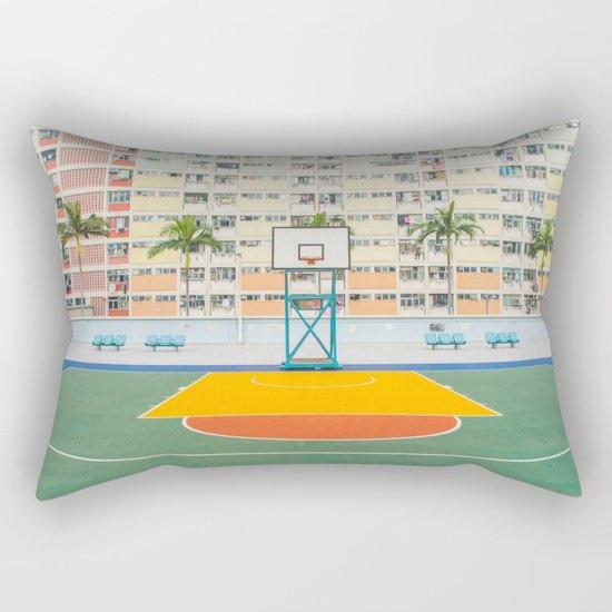 Basket orange yellow Rectangular Pillow