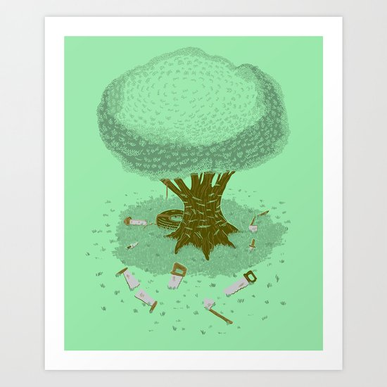 The Toughest Tree Art Print