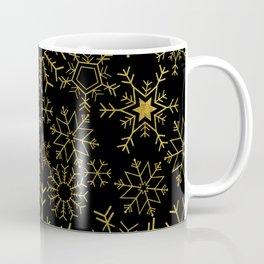 Gold and black snowflakes Coffee Mug