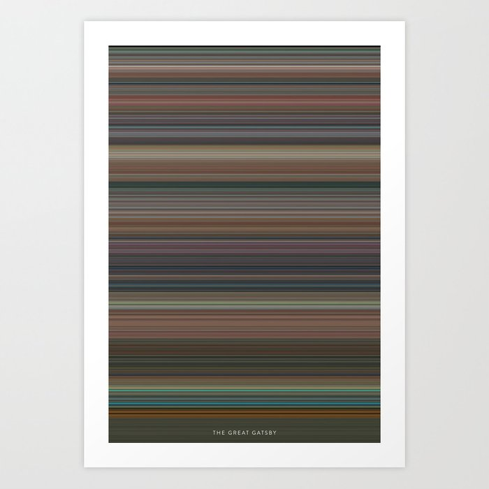 The Great Gatsby The Colors Of Motion Art Print By Charlieclark