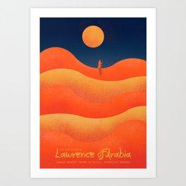 Lawrence of Arabia, vintage movie poster, David Lean, Peter O'Toole, Anthony Quinn, Omar Sharif Art Print