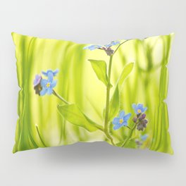 Lovely Morning Meadow Forget Me Not #decor #society6 Pillow Sham