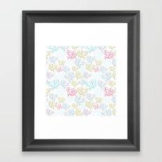 Pink Corals Framed Art Print