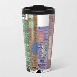 Victorian carriage in a paper city Travel Mug