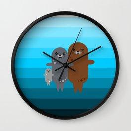 Happy Seal Family Wall Clock