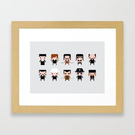 Pixel Machete Characters Framed Art Print