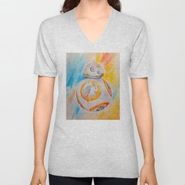 BB8 watercolor painting Unisex V-Neck