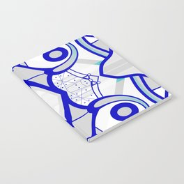 Blue morning - abstract decorative pattern Notebook