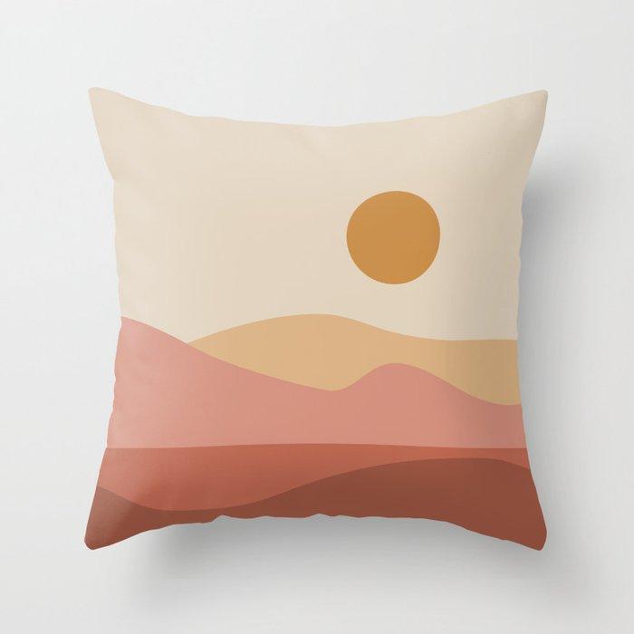 Geometric Landscape 23A Throw Pillow