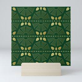 Emerald Art Deco Fan Mini Art Print