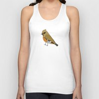 bohemian Tank Tops featuring Bohemian Waxwing by MLOR graphic designs