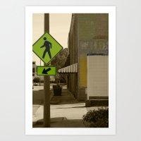 Pedestrian Walking Art Print
