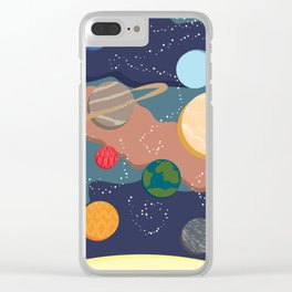 Offset Solar System Clear iPhone Case