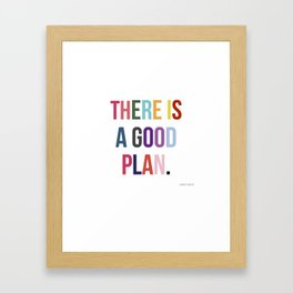 There is a good plan. Framed Art Print