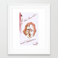 mozart Framed Art Prints featuring Mozart & Salieri by MENAGU'