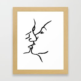 Frida's kiss Framed Art Print