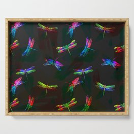 fly fly dragonfly i Serving Tray