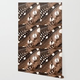 Beautiful Feathers On A Dark Brown Background #decor #buyart #society6 Wallpaper