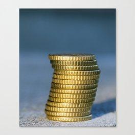 Euro photographed close up Canvas Print