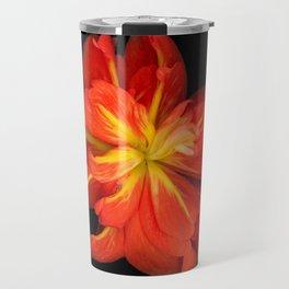 Stunningly Vibrant Orange Begonia Macro  Travel Mug