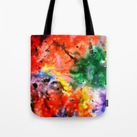 milky way Tote Bags featuring Milky Way by Ink and Paint Studio