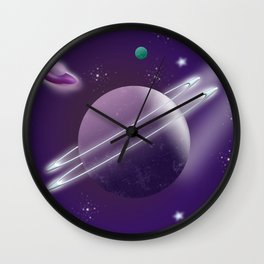 Space Travel Wall Clock
