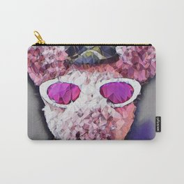 """""""Pinky the Pig Polygon Portrait"""" Carry-All Pouch"""