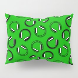 Headphones-Green Pillow Sham