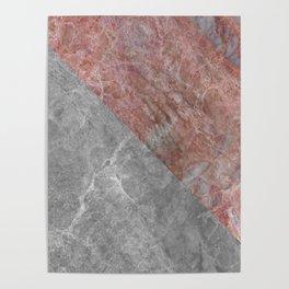 Soft Marble Pattern Design Poster