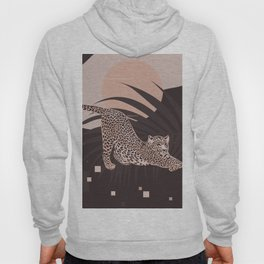 Nomade Night / Cheetah and Palm Leaf Hoody